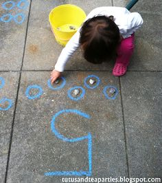 Tutus and Tea Parties blog: Number Counting Box (Also for outside counting with chalk!)