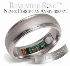Remember Rings, $760 | 34 Unconventional Wedding Band Options For Men - I had to giggle at this.