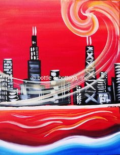 Thurs., June 7th ($40pp): OPEN-AIR Painting Party on the Patio at Heritage General Store (2959 N. Lincoln)! We'll teach you to paint one of our most popular images—the Chicago skyline! Ticket price includes all paint supplies, instruction, aprons and a 16x20 take-home canvas! **In case of a rain delay, the party will start run from 8-10pm inside Heritage. BYOB at 6:00pm. Painting from 6:30-8:30pm.