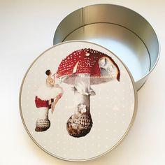 Dosen - Kunst auf Blechdose Keksdose Fliegenpilz - ein Designerstück von Art-istique bei DaWanda