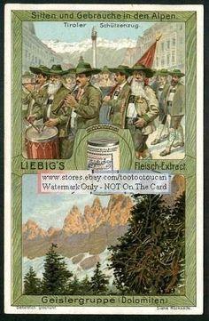 Alps Geislergruppe Dolomiten c1908 Card