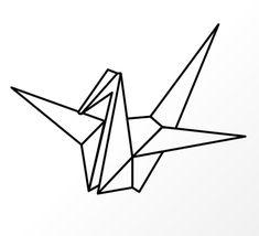 Origami Vogel zu Fensterdeko - Vorlage