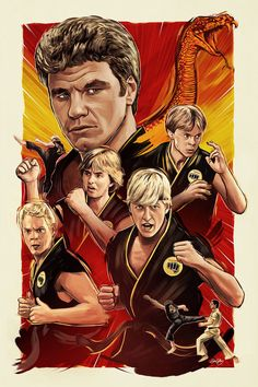 The Karate Kid - Cobra Kai poster by Sam Gilbey