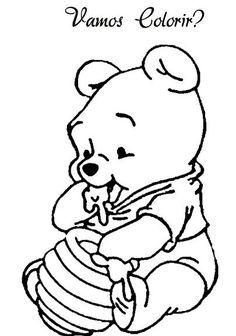 Resultado de imagem para pooh baby para pintar