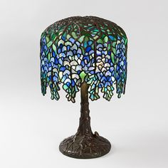 """""""Pony Wisteria"""" Tiffany Lamp.    Holiday Luxury!  Available exclusively at Macklowe Gallery.  www.macklowegallery.com"""