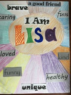 I Am Art Project for Kids - Self-Esteem Activity - Fambalee Self-Esteem Art therapy projects for kids Group Therapy Activities, Self Esteem Activities, Counseling Activities, Art Activities For Kids, School Counseling, Kids Coping Skills, Social Skills For Kids, Art Therapy Projects, Art Projects