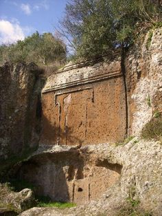 Etruscan tomb at Viterbo, Tuscany