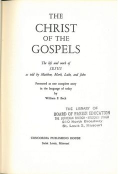 Beck Gospels Title, Bible In My Language