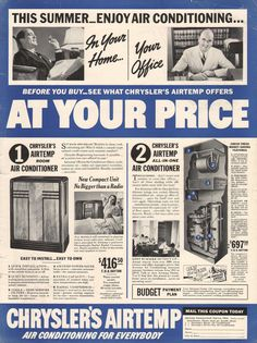 1000 Images About Vintage Air Conditioning Ads On
