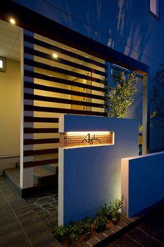 狭い空間を広く見せる。モニュメント×光で、奥行きのあるドラマティックな空間に。 #lightingmeister #gardenlighting…