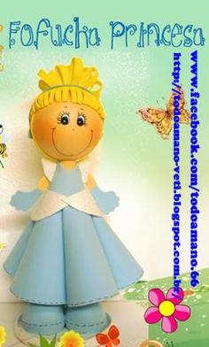 Boneca em EVA passo a passo fofucha princesa EVA