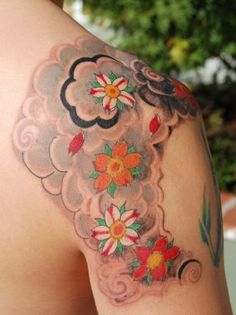 Daisy Flower Tattoo Pic Art. great work...