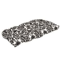 Pillow Perfect Outdoor Black/ Beige Damask Wicker Loveseat Cushion - Overstock™ Shopping - Big Discounts on Pillow Perfect Outdoor Cushions & Pillows