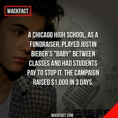 Too funny to pass up!! Poor little Bieber.. But hey, whatever works!! :-P  #FundraisersThatWork