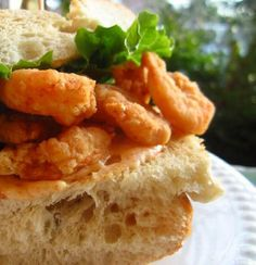 New Orleans Shrimp Po Boy - Po Boys are a New Orleans staple. Buy some good crusty French Bread, not the soft stuff.