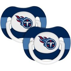 NFL Baby Pacifiers, 2pk, Tennessee Titans, Beige