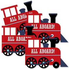 Shape for DIY photo booth Railroad Party Crossing - Train Decorations DIY Steam Train Birthday Party or Baby Shower Essentials - Set of 20 Trains Birthday Party, Birthday Parties, 90th Birthday, Third Birthday, Birthday Ideas, Diy Party Essentials, Train Party Decorations, Wall Decorations, Diy Party Supplies
