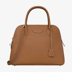 Hermes bag in taurillon Clemence leather Shoulder strap and handles Gold plated hardware