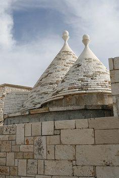 Trulli (distinctive beehive roof), Puglia, Italy