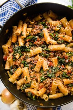 Spicy Sausage Pasta with Rapini is an easy and delicious dinner that will have everyone fighting for seconds! Spicy Sausage Pasta, Spicy Pasta, Italian Sausage Pasta, Sweet Italian Sausage, Broccoli Rabe Recipe, Still Tasty, Marzano, Rigatoni, Kitchen Dishes