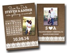 Save the Date with Personal Photos-Printable Burlap Invitation- Digital Invite- Custom Invitation Suite. Click through to find matching games, favors, thank you cards, inserts, decor, and more. Or shop our 1000+ designs for all of life's journeys. Weddings, birthdays, new babies, anniversaries, and more. Only at Aesthetic Journeys