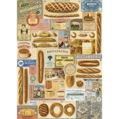 This Boulangerie French Bakery Wrapping Paper wraps all your gifts in vintage style. Perfect for scrapbooks, crafts, mod podge and more. 20 x 28 sheet. Vintage Diy, Vintage Style, Vintage Bakery, Vintage Sweets, Decoupage Vintage, Vintage Labels, Vintage Images, Vintage Items, Poster Shop