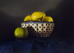 Lemons - Giclee Limited Edition Print on fine art paper mounted with white mount board. 24 x Ceramic Bowls, Stoneware, Apple Art, Food Painting, Still Life Oil Painting, Still Life Art, Polish Pottery, Paintings For Sale, Fine Art Paper