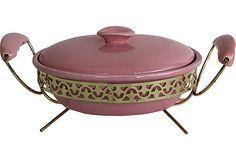 Pink Midcentury Serving Dish