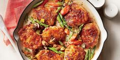 Chicken Fricassee with Spring Vegetables Recipe