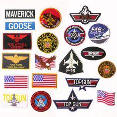 "TOP GUN ""Maverick"" Custom Costume Naval Movie Patch, Embroidered Iron-On / Names"