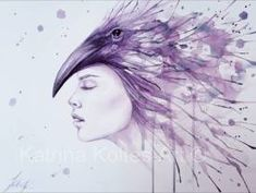 Watercolor and ink paintings Watercolor Face, Watercolor Paintings, Creatures, Faces, Museum, Illustration, Anime, Art, Art Background