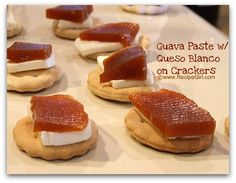 Guava paste with Queso Blanco on crackers... simple, unique, and very flavorful! comfort food for my cuban heart