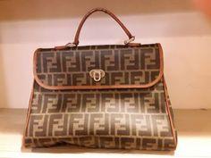 Fendi Bag Handbag Zucca Black Beige Canvas Leather Woman Used Brown Canvas, Fendi  Bags, 89f046a80e