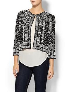 Parker Valentina Jacket | Piperlime. This beaded jacket is just a stunner!!!