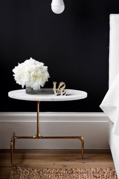 Blogger approved marble side table.