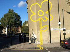 banksy yellow flower ukingdom