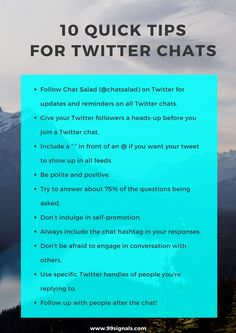 10 Quick Tips for Twitter Chats - 25 Best Twitter Chats for Marketers