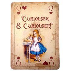 *ALICE in WONDERLAND ~ A4 QUOTE Vintage Playing Card Prop Mad Hatters Tea Party A in Home, Furniture & DIY, Celebrations & Occasions, Party Supplies | eBay