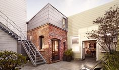 There's residential design, and then there's jigsaw puzzle design. This elegant project by the San Francisco architect Christi Azevedo, who wedged a full guest house into a laundry and boiler room from 1916, falls somewhere in between the two.