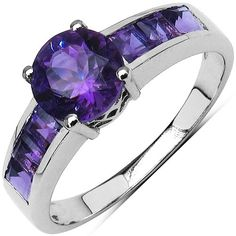 This unique leaves moissanite engagement ring makes an amazing gift for the woman in your life. It features a solid white gold band and diamonds encrusted petals with 2 carat forever brilliant moissanite center. This moissanite engagement ring is the Purple Jewelry, Amethyst Jewelry, Amethyst Stone, Silver Jewelry, Silver Earrings, Gold Ring Designs, Silver Engagement Rings, White Gold Rings, Purple Rings