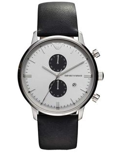 Emporio Armani AR0385 Classic Herrenuhr Chronograph