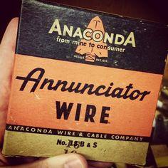 Annunciator Wire from Anaconda.  #typehunter #typehunting #badgehunting #vintagelabel