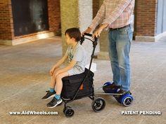 carrito de bebe con hoverboard