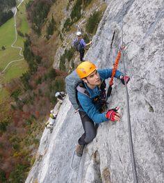 Fürenwand Klettersteig in Switzerland - busy day