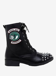 Riverdale Southside Serpents Studded Fold-Over Boots Hot Topic Exclusive - Riverdale Southside Serpents Studded Fold-Over Boots Hot Topic ExclusiveRiverdale Southside Serpents Studded Fold-Over Boots Hot Topic Exclusive, Source by - Hot Topic Shoes, Hot Topic Clothes, Hot Topic Dresses, Hot Topic Outfits, Grunge Style, Style Indie, Soft Grunge, Tokyo Street Fashion, Le Happy