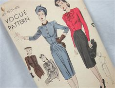 Vintage 40s Dress Pattern, Vogue 9527 di OldFashionedNotions su Etsy https://www.etsy.com/it/listing/109039659/vintage-40s-dress-pattern-vogue-9527