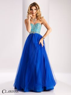 Clarisse unique royal blue Ball Gown prom dress style 3011 | Promgirl.net