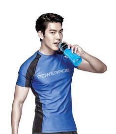Kim Woo-bin models for sports drink brand @ HanCinema :: The Korean Movie and Drama Database