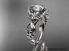platinum diamond unique engagement ring - wow this is gorgeous! Probably way too expensive, but gorgeous!