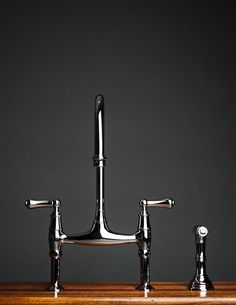 Rohl Perrin & Rowe Bridge Kitchen Faucet with Sidespray tall overview